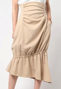 ELIN Asymmetry gather skirt/アシンメトリーギャザースカート