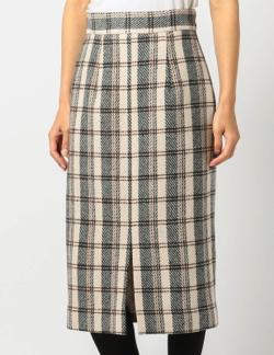 MEW'S REFINED CLOTHES(ミューズ リファインド クローズ)チェック柄タイトスカート