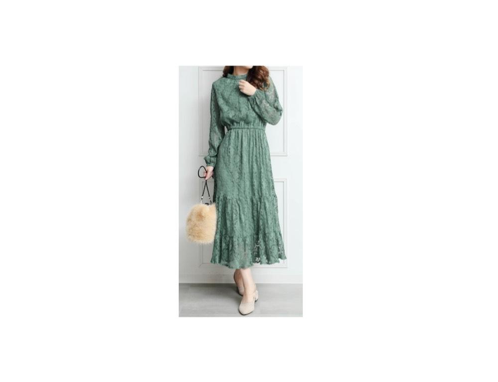 ファーストサマーウイカさんの着用ファッション【女が女に怒る夜 2019】ファーストサマーウイカさん着用・グリーンのワンピースのブランド