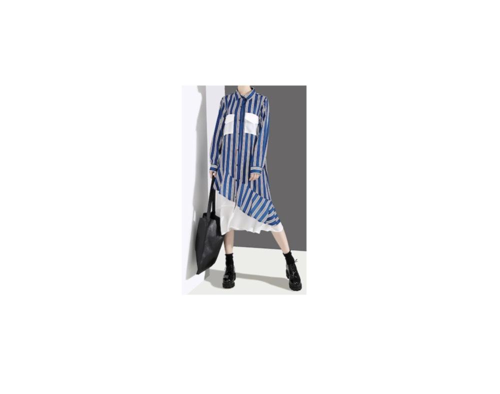【女が女に怒る夜 2019】いとう あさこさん着用・ストライプのワンピースのブランドいとう あさこさんの着用ファッション