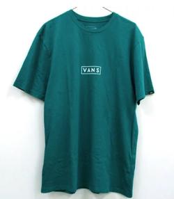 VANS(ヴァンズ)Easy Box Logo Teal T-Shirt