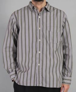 OMNIGOD(オムニゴッド)サテンストライプ ユニフォームシャツ