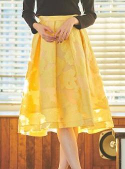 31sonsdemode 花柄ジャガードスカート
