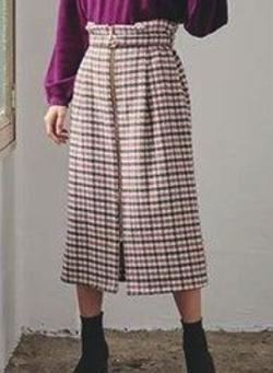 Cherie Mona カルゼ千鳥スカート