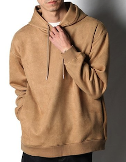 SLICK (スリック)Stretch Faux Suede Hoodie