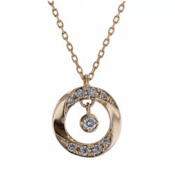festaria bijou SOPHIA K10イエローゴールド ダイヤモンド ペンダント