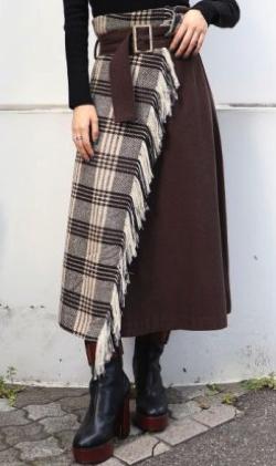 MURUA(ムルーア)ストールフレアスカート
