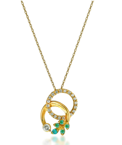 STAR JEWELRY K18 ネックレス PARAIBA TOURMALINE & DIAMOND NECKLACE