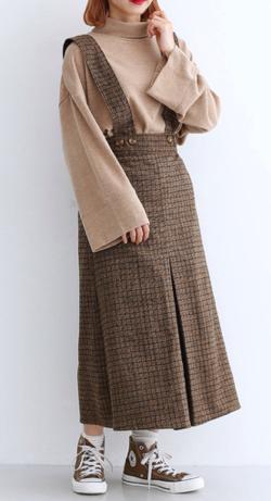 【第1話】2020/01/14《菅野海砂(かんのみさ )役の堀田真由》さん着用のジャンパースカート