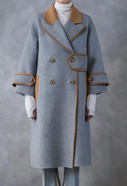 SALT+JAPAN 19AW BICOLOR DESIGN WOOL COAT