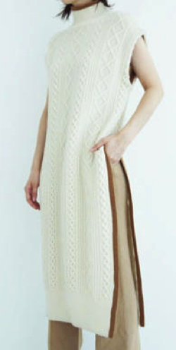 SALT+JAPAN 19AW CABLE KNIT LONG GILET