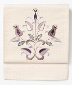 きものやまと 刺繍京袋帯 チューリップ