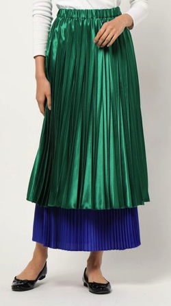 UN3D.(アンスリード)レイヤードオリガミプリーツスカート