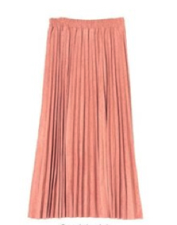 titivate(ティティベイト)フェイクスエードアコーディオンプリーツスカート