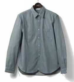 ORGUEIL レギュラーカラーワークシャツ