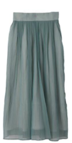 RAW FUDGE(ローファッジ)オーガンジーギャザースカート