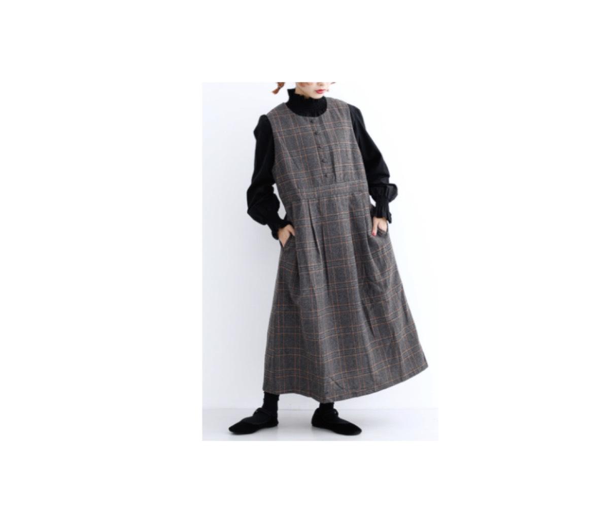 【第1話】2020/1/19放送《佐野 和子役・榮倉奈々》さんさん着用ジャンパースカートのブランドはこちら♪