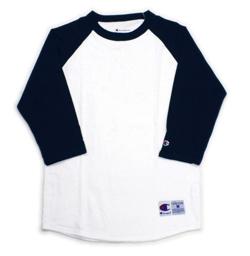 Champion(チャンピオン)5.2oz 7分袖 ラグラン Tシャツ T-Shirt Raglan