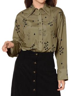 FURFUR(ファーファー)ハートプリントシャツ