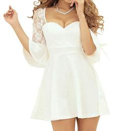 Ryuyu 背中魅せAラインミニドレス