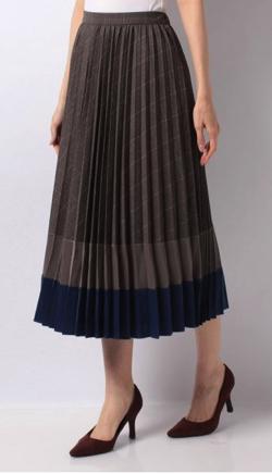 TONAL(トーナル) チェックドッキングプリーツスカート