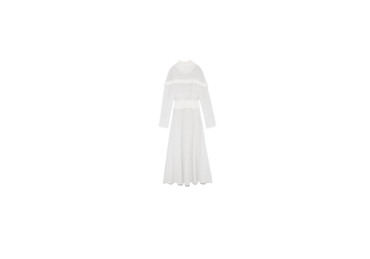宇垣美里(うがき みさと)アナが【あの子は漫画を読まない】の中で着用している服(服装)・衣装(洋服・ファッション・ブランド・アクセサリー等)やコーデ《宇垣美里(うがき みさと)》アナ着用の白いニットワンピース
