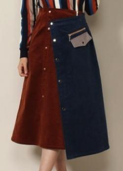 REDYAZEL ワンショル2WAYコーデュロイスカート