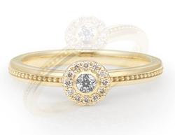 festaria bijou SOPHIA K18イエローゴールド Wish upon a starダイヤモンド リング
