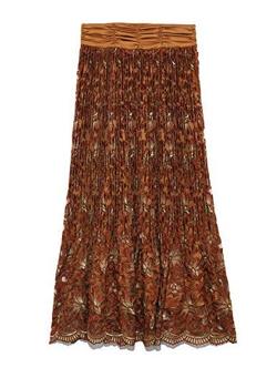 Lily Brown (リリーブラウン)フラワー刺繍プリーツスカート