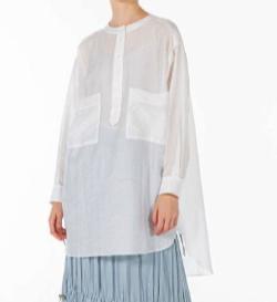 SALT+JAPAN オーバーシルエットノーカラーシャツ