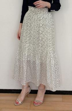 Loungedress(ラウンジドレス)ドットプリーツスカート
