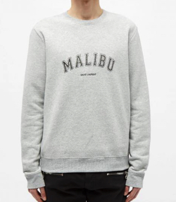 SAINT LAURENT Saint Laurent Malibu Print Crew Sweat