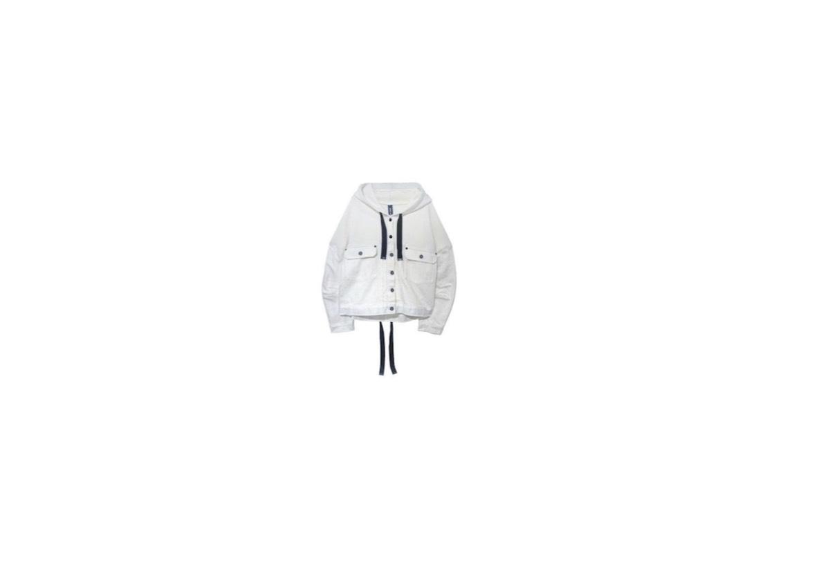 【VS嵐】でゲスト出演者が着用しているファッションやブランド・服装【VS嵐】(2月27日放送)《倉科カナ》さん着用白いフード付きデニムジャケットのブランド