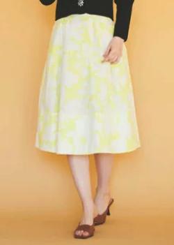 31sonsdemode タイプライター花柄スカート