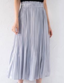 Loungedress ラメジョーゼットプリーツスカート