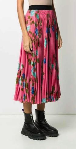 MSGM (エムエスジーエム)ローズプリントスカート