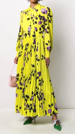 MSGM (エムエスジーエム)タイネック プリーツドレス