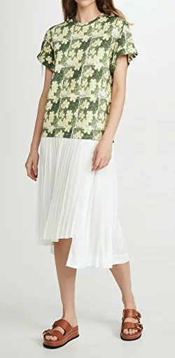3.1 Phillip Lim(3.1フィリップリム)  Daisy Printed Pleated T S
