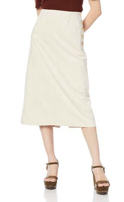 ROSE BUD (ローズバッド)サイドボタンスエードスカート
