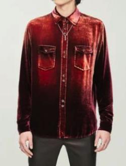 SAINT LAURENT (サンローラン)ベロアシャツ