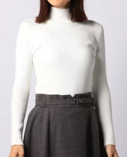 MEW'S REFINED CLOTHES(ミューズ リファインド クローズ)リブボトルネックニット