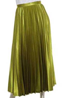 FRAY I.D(フレイアイディー)サテンカラープリーツスカート