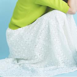 And Couture ケミカルフラワーレースフレアスカート