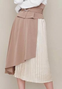 RESEXXY(リゼクシー)コルセット付きプリーツ切替スカート
