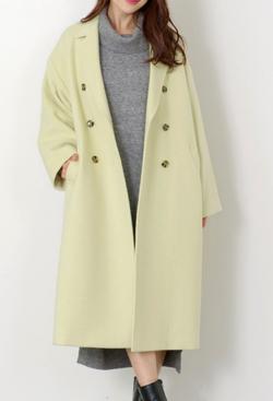 MEW'S REFINED CLOTHES(ミューズ リファインド クローズ)ダブルボタンロングコート