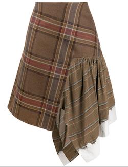 LANVIN チェック スカート