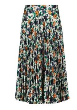 花柄のプリーツスカート