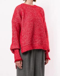 ENFOLD ドレープスリーブ セーター
