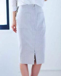 BOSCH(ボッシュ)ストライプフロントジップスカート
