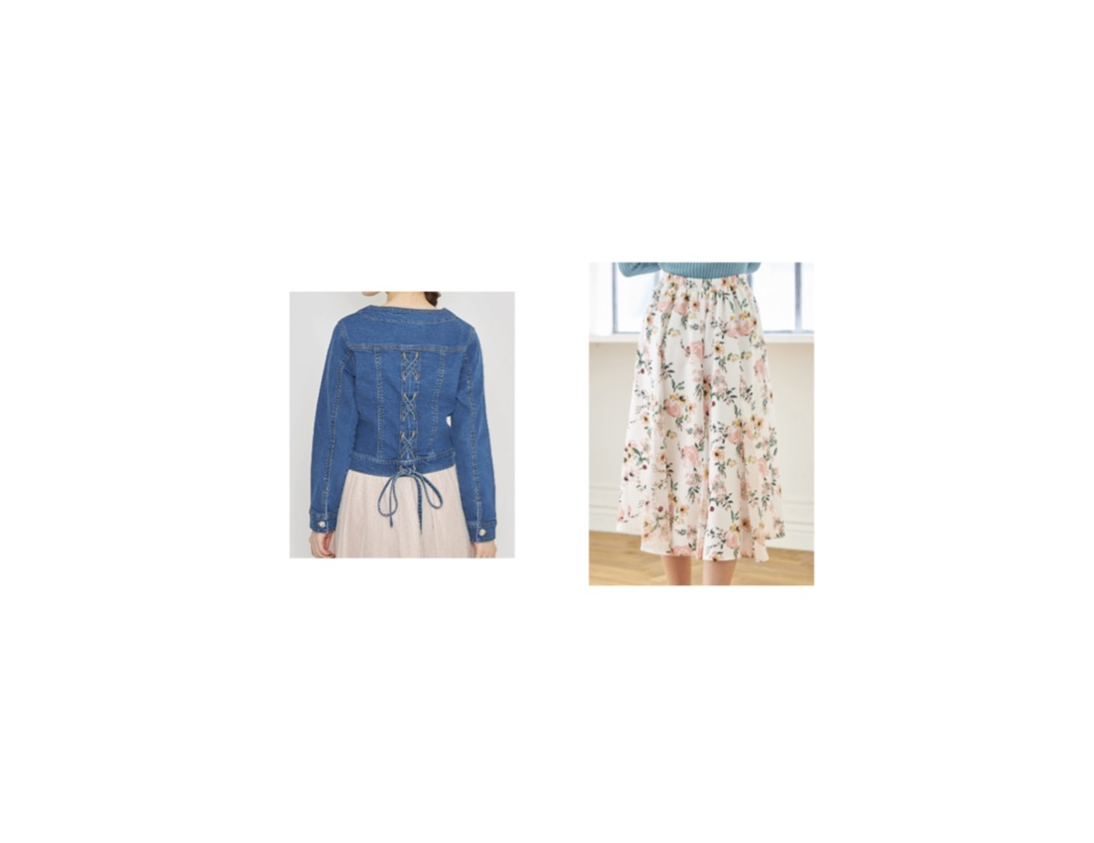 田中みな実 さんが【tocco closet】で着用している服(服装)・可愛い衣装(洋服・ファッション・ブランド・バッグ・アクセサリー等)やコーデデニムジャケットスカート